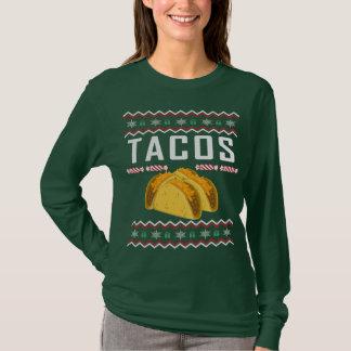 Camiseta Camisola feia do Natal do Tacos