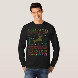 Camiseta Camisola feia do Natal dos cervos