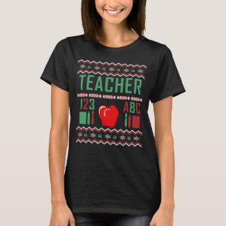 Camiseta Camisola feia do Natal dos professores