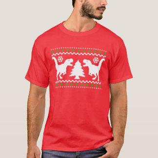 Camiseta Camisola feia engraçada do Natal de T-Rex