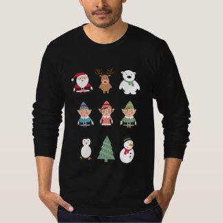 Camiseta Camisola feia engraçada do Natal dos amigos do