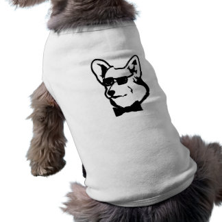 Camiseta Camisola parva do cão do Corgi legal
