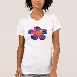 Camiseta Camisole de Splat da pintura da margarida (cabido)