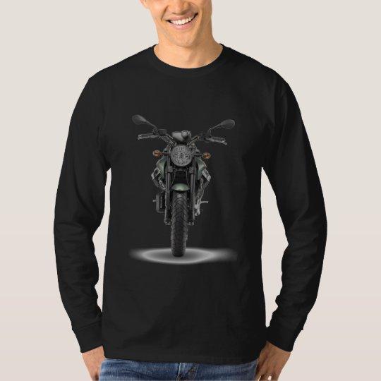 Camiseta Camista MLonga Preta - Custom MotoGuzzi Griso