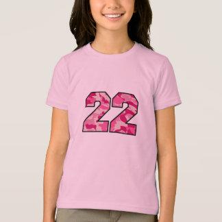 Camiseta Camo cor-de-rosa 22
