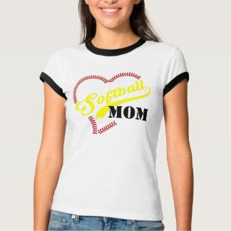 Camiseta Campainha personalizada mamã TShi do softball do