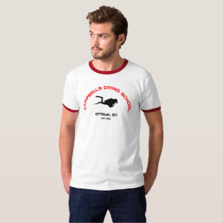 Camiseta Campainha T da escola do mergulho de Campbell