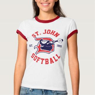 Camiseta Campainha vermelha de St John - mulheres
