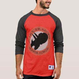 """Camiseta Campeão de Primabeasts """"Triceratops Semper Fortis"""""""
