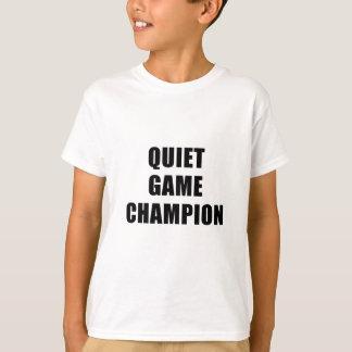 Camiseta Campeão do jogo quieto