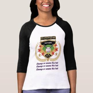 Camiseta Campeão do softball Dianteiro-Para trás
