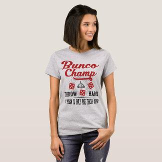 Camiseta Campeão dos dados de Bunco do vintage