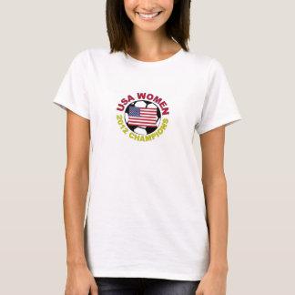 Camiseta Campeões 2012 do futebol das mulheres dos EUA