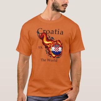 Camiseta Campeonato do mundo - Croatia contra. O mundo