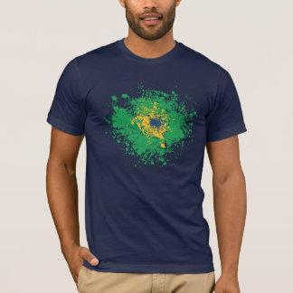 Camiseta Campeonato do mundo do futebol: Bandeira de Brasil
