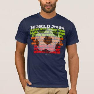 Camiseta Campeonato do mundo todas as cores escuras do