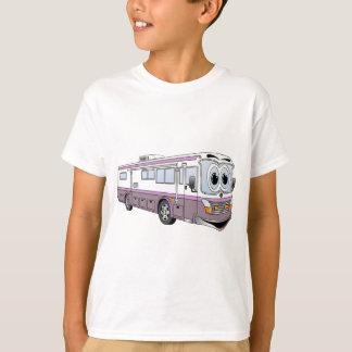 Camiseta Campista roxo dos desenhos animados do ônibus do