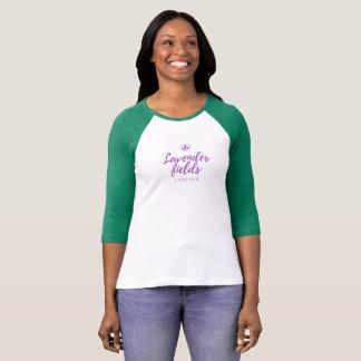 Camiseta Campos da lavanda com #back