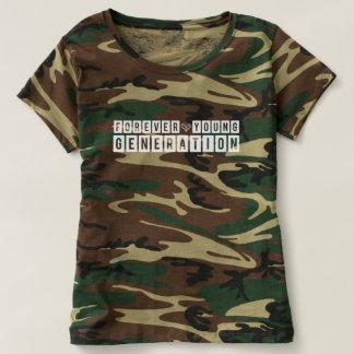 Camiseta Camuflagem para sempre nova da geração