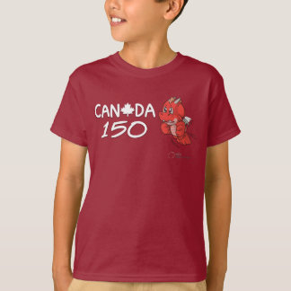 Camiseta Canadá 150 - Os desenhos animados do dragão de