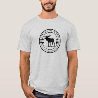 Camiseta Canadá dá boas-vindas às pessoas que escapam o