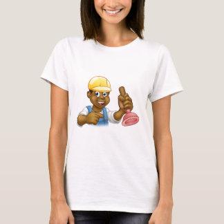Camiseta Canalizador do trabalhador manual que guardara o