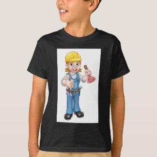 Camiseta Canalizador fêmea dos desenhos animados que