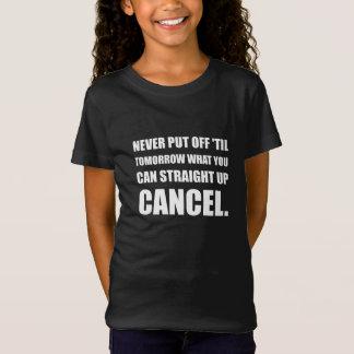 Camiseta Cancelamento ascendente do hetero