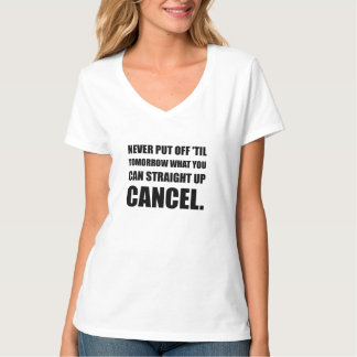 Camiseta Cancelamento ascendente do hetero