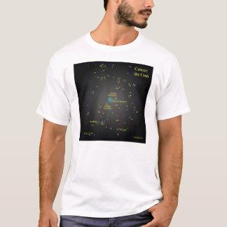 Camiseta Cancer a constelação do caranguejo