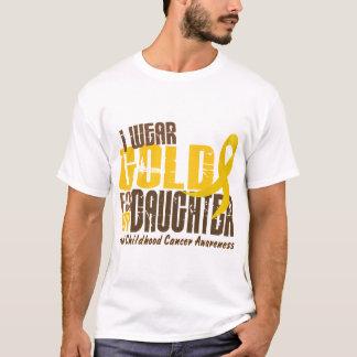 Camiseta Cancer da infância EU VISTO o OURO PARA MINHA