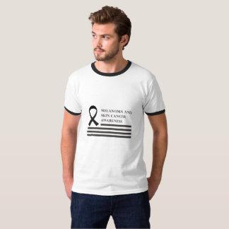 Camiseta Cancer da luta da consciência da melanoma e do