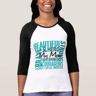 Camiseta Câncer de ovário quadrado da mamã do tributo