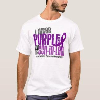 Camiseta Câncer de pâncreas eu visto o roxo para meu genro