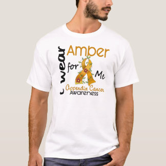 Camiseta Cancer do apêndice eu visto o âmbar para mim 43