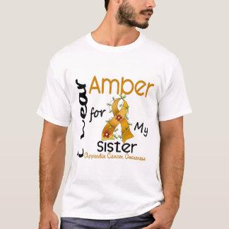 Camiseta Cancer do apêndice eu visto o âmbar para minha