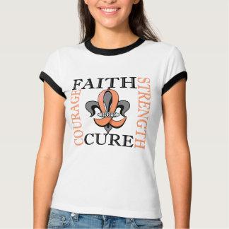 Camiseta Cancer Endometrial da flor de lis 3