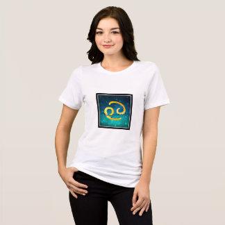 Camiseta Cancer estrelado do sinal de Sun do zodíaco do céu