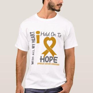Camiseta Cancer que do apêndice eu me aferro para esperar