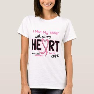 Camiseta Cancro da mama mim senhorita Meu Irmã
