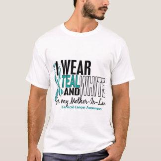 Camiseta CANCRO DO COLO DO ÚTERO eu visto a sogra branca 10