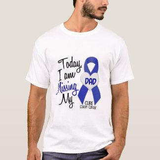 Camiseta Cancro do cólon que FALTA MEU PAI