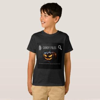 Camiseta Candy Files na caça para o ladrão dos doces