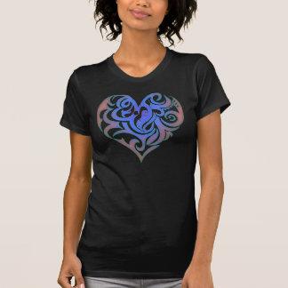Camiseta Candy Heart Blue Glow