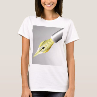 Camiseta caneta de fonte 95Shiny Nib_rasterized