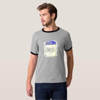 Camiseta Caneta do frasco da maionese e desenho de giz