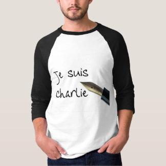 Camiseta Caneta do vintage de Je Suis Charlie