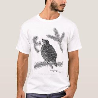 Camiseta Caneta e tinta norte-americanas do pisco de peito