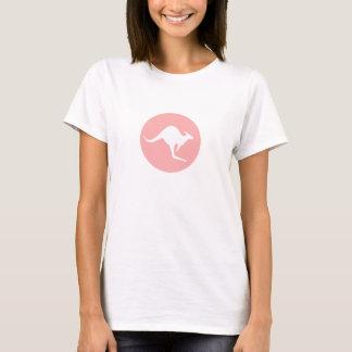Camiseta Canguru branco dos cangurus do mundo no rosa