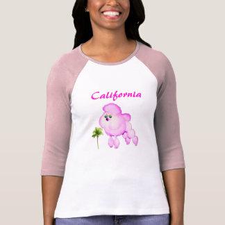 Camiseta Caniche cor-de-rosa no t-shirt de Califórnia dos